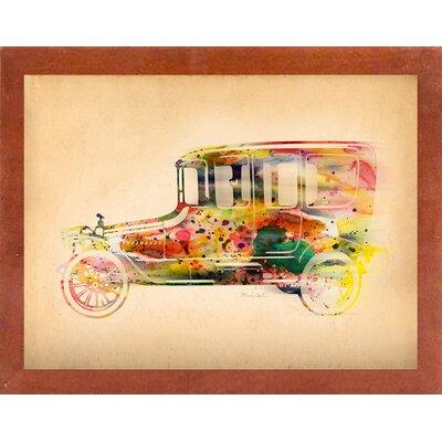 'Folsfagen Car 3' Graphic Art Print Format: Affordable Canadian Walnut Medium Framed Paper, Size: 23.25