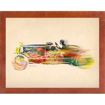 'Folsfagen Car 4' Graphic Art Print Format: Affordable Canadian Walnut Medium Framed Paper, Size: 23.25