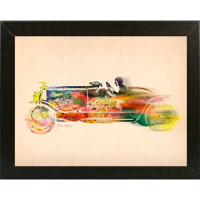 'Folsfagen Car 4' Graphic Art Print Format: Affordable Brazilian Walnut Medium Framed Paper, Size: 23.25