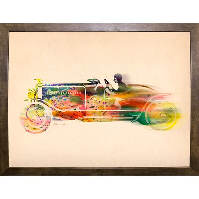 'Folsfagen Car 4' Graphic Art Print Format: Cafe Mocha Framed Paper, Size: 23.25