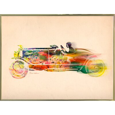 'Folsfagen Car 4' Graphic Art Print Format: Gold Metal Framed Paper, Size: 23.25
