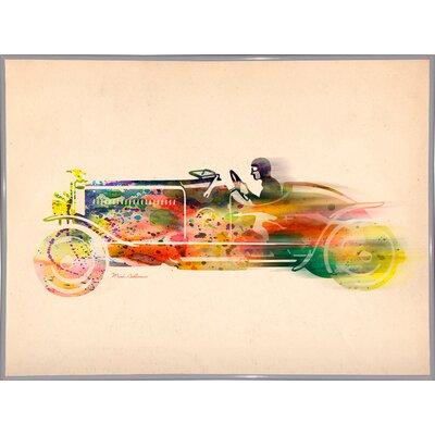 'Folsfagen Car 4' Graphic Art Print Format: White Metal Framed Paper, Size: 23.25