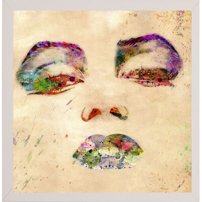 'Marilyn 1' Graphic Art Print Format: Affordable White Medium Framed Paper, Size: 24