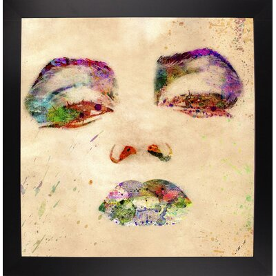 'Marilyn 1' Graphic Art Print Format: Affordable Black Large Framed Paper, Size: 24