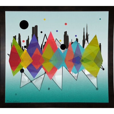 'New York Riflaction' Graphic Art Print Format: Affordable Black Medium Framed Paper, Size: 24