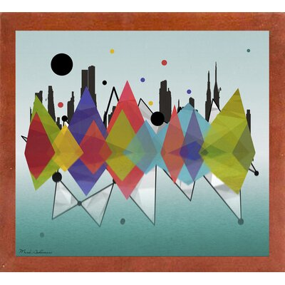 'New York Riflaction' Graphic Art Print Format: Affordable Canadian Walnut Medium Framed Paper, Size: 24