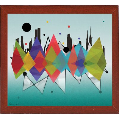 'New York Riflaction' Graphic Art Print Format: Affordable Red Mahogany Medium Framed Paper, Size: 24
