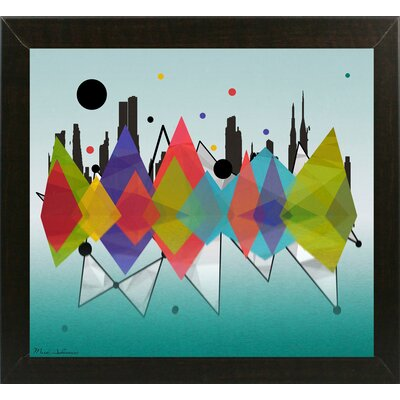 'New York Riflaction' Graphic Art Print Format: Affordable Brazilian Walnut Medium Framed Paper, Size: 24