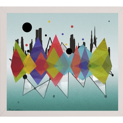 'New York Riflaction' Graphic Art Print Format: Affordable White Medium Framed Paper, Size: 24
