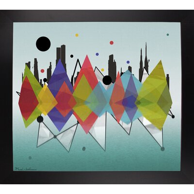 'New York Riflaction' Graphic Art Print Format: Affordable Black Large Framed Paper, Size: 24