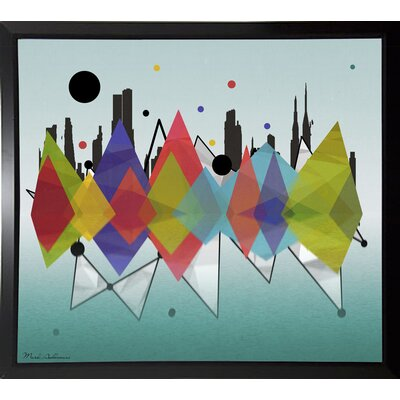 'New York Riflaction' Graphic Art Print Format: Budget Saver Framed Paper, Size: 24