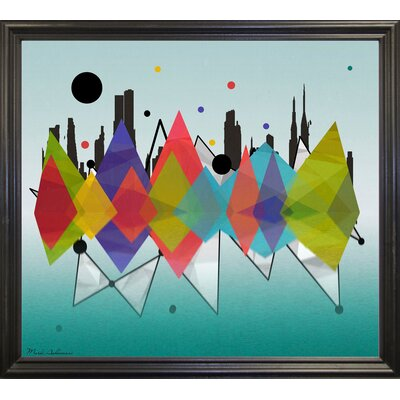 'New York Riflaction' Graphic Art Print Format: Black Grande Framed Paper, Size: 24