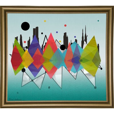 'New York Riflaction' Graphic Art Print Format: Bistro Gold Framed Paper, Size: 24