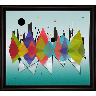 'New York Riflaction' Graphic Art Print Format: Bistro Espresso Framed Paper, Size: 24