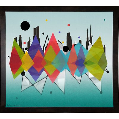 'New York Riflaction' Graphic Art Print Format: Cafe Espresso Framed Paper, Size: 24