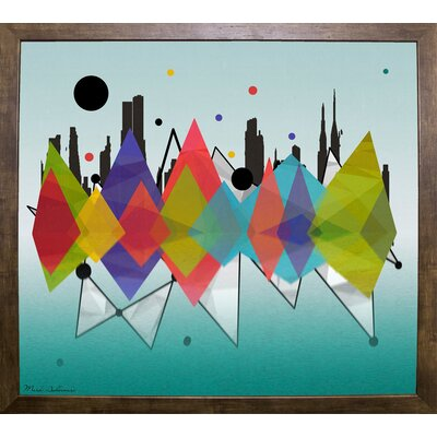 'New York Riflaction' Graphic Art Print Format: Cafe Mocha Framed Paper, Size: 24