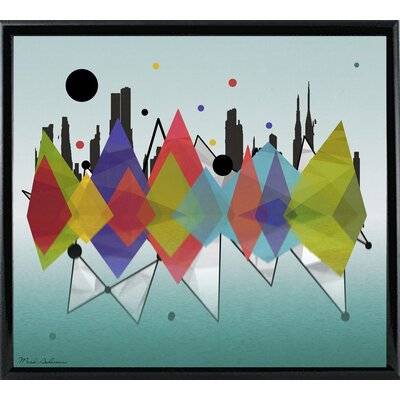 'New York Riflaction' Graphic Art Print Format: Shiny Black Metal Framed Paper, Size: 24