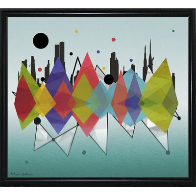 'New York Riflaction' Graphic Art Print Format: Flat Black Metal Framed Paper, Size: 24