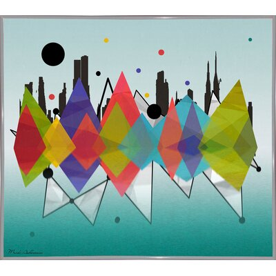 'New York Riflaction' Graphic Art Print Format: White Metal Framed Paper, Size: 24