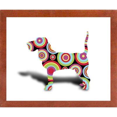'Dog 3' Graphic Art Print Format: Affordable Canadian Walnut Medium Framed Paper, Size: 25