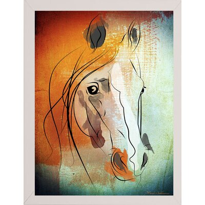 'Dsc 0049' Graphic Art Print Format: Affordable White Medium Framed Paper, Size: 26
