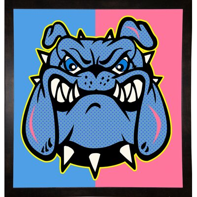 'Boldog 6' Graphic Art Print Format: Affordable Black Medium Framed Paper, Size: 26