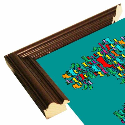 'Italy Map 2' Graphic Art Print Format: Cherry Grande Framed Paper, Size: 29.25