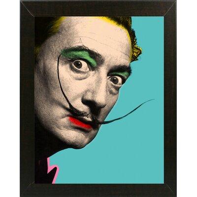 'Salvador Dalhi' Graphic Art Print Format: Affordable Brazilian Walnut Medium Framed Paper, Size: 29.75