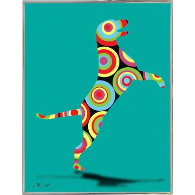 '12860588' Graphic Art Print Format: Silver Metal Framed Paper, Size: 30.25