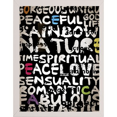 'World' Textual Art Format: Affordable White Medium Framed Paper, Size: 31