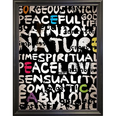 'World' Textual Art Format: Black Grande Framed Paper, Size: 31