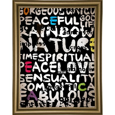 'World' Textual Art Format: Bistro Gold Framed Paper, Size: 31