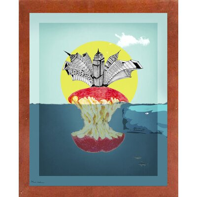 'Sea Life 9' Graphic Art Print Format: Affordable Canadian Walnut Medium Framed Paper, Size: 34