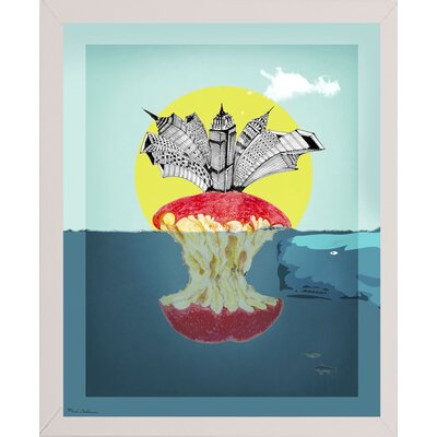 'Sea Life 9' Graphic Art Print Format: Affordable White Medium Framed Paper, Size: 34