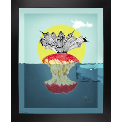 'Sea Life 9' Graphic Art Print Format: Affordable Black Large Framed Paper, Size: 34