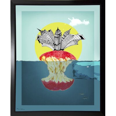 'Sea Life 9' Graphic Art Print Format: Budget Saver Framed Paper, Size: 34