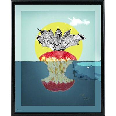 'Sea Life 9' Graphic Art Print Format: Shiny Black Metal Framed Paper, Size: 34
