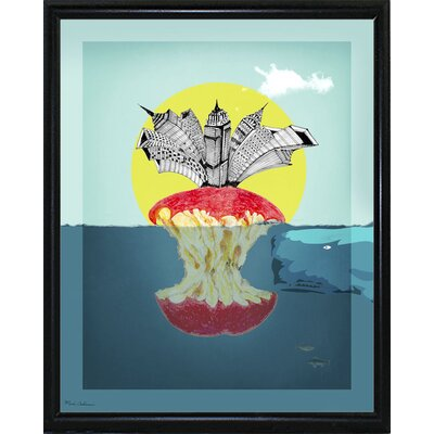 'Sea Life 9' Graphic Art Print Format: Flat Black Metal Framed Paper, Size: 34