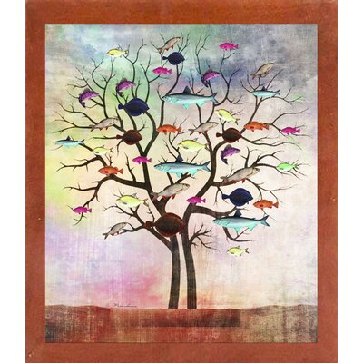 'Tree 2' Graphic Art Print Format: Affordable Canadian Walnut Medium Framed Paper, Size: 35