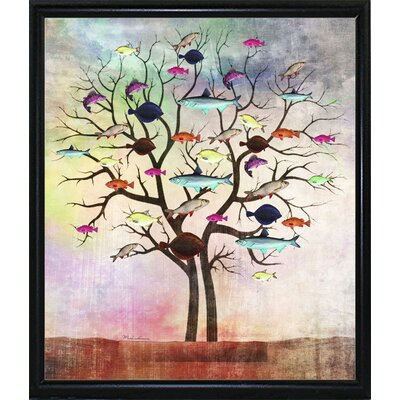 'Tree 2' Graphic Art Print Format: Flat Black Metal Framed Paper, Size: 35