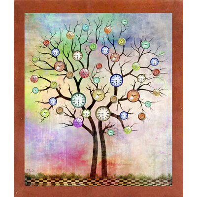 'Tree 3' Graphic Art Print Format: Affordable Canadian Walnut Medium Framed Paper, Size: 35