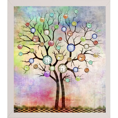 'Tree 3' Graphic Art Print Format: Affordable White Medium Framed Paper, Size: 35