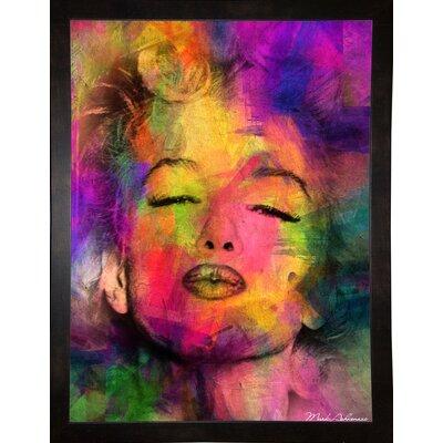 'Marilyn 6' Graphic Art Print Format: Affordable Black Medium Framed Paper, Size: 35.5
