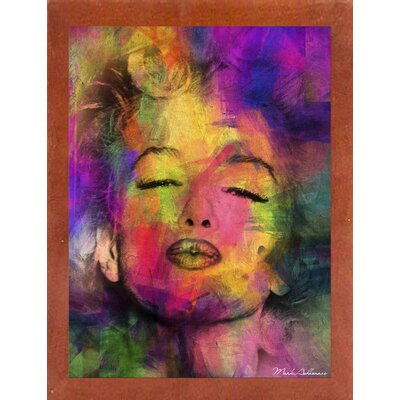 'Marilyn 6' Graphic Art Print Format: Affordable Canadian Walnut Medium Framed Paper, Size: 35.5