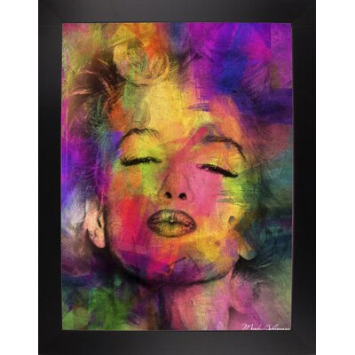 'Marilyn 6' Graphic Art Print Format: Affordable Black Large Framed Paper, Size: 35.5