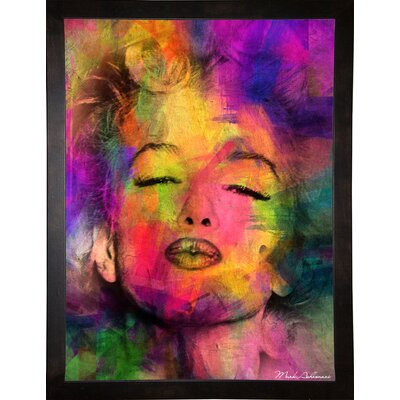 'Marilyn 6' Graphic Art Print Format: Cafe Espresso Framed Paper, Size: 35.5