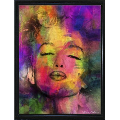 'Marilyn 6' Graphic Art Print Format: Flat Black Metal Framed Paper, Size: 35.5
