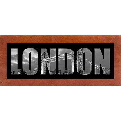 'London City Photos Black and White' Graphic Art Print Format: Affordable Canadian Walnut Medium Framed Paper, Size: 9.25