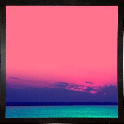 'Candy Sea' Graphic Art Print Format: Black Medium Framed Paper, Size: 10.5