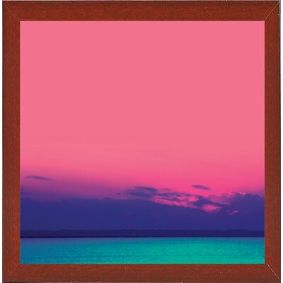 'Candy Sea' Graphic Art Print Format: Red Mahogany Medium Framed Paper, Size: 10.5